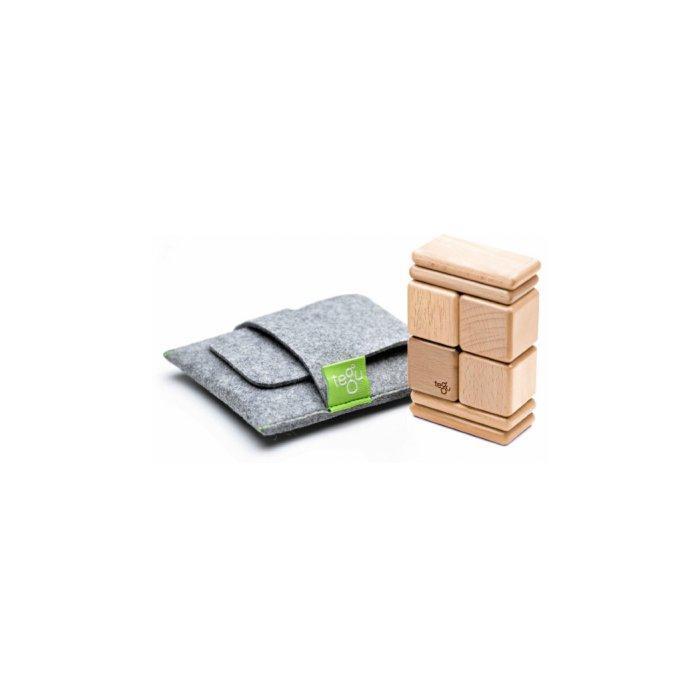8 Piece Tegu Pocket Pouch Magnetic Wooden Block Set