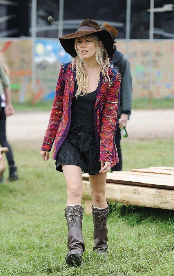 Sienna Miller Dresses for Glastonbury