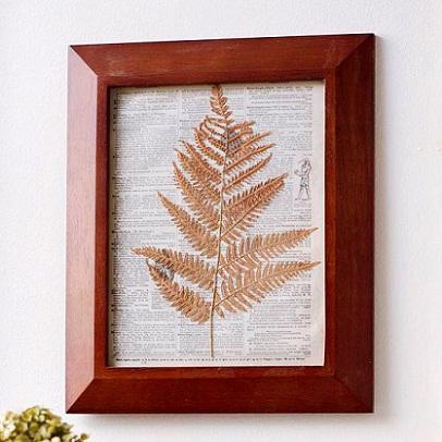 Framed Fern: Trendy Decorating Ideas for Fall...