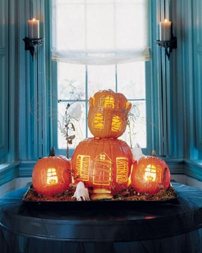 Spooky Haunted House Pumpkin Carving Ideas...
