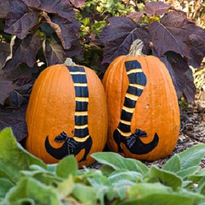She's Got Legs Pumpkin Carving Ideas...
