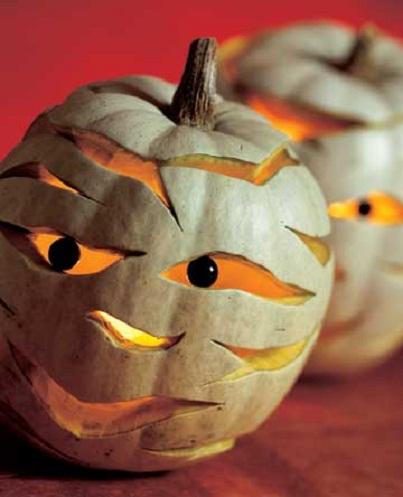 Mummified Pumpkin Carving Ideas...