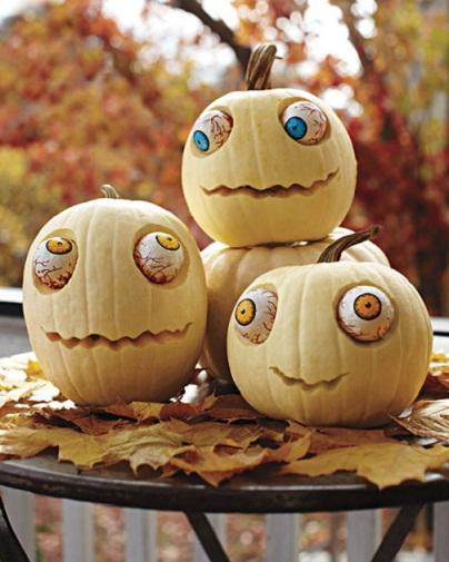Friendly Zombies Pumpkin Carving Ideas...