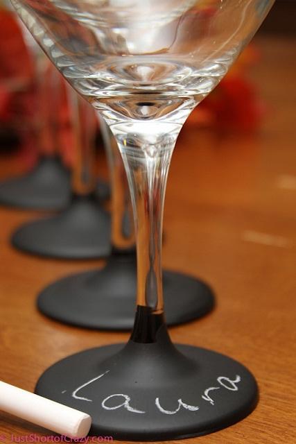 Chalkboard Based Martini Glasses...