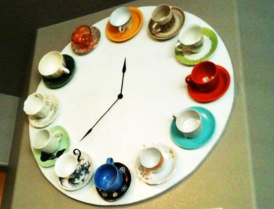 Tea Cup Clock