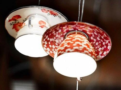 Tea Cup Hanging Lights