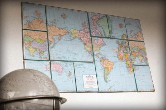 Canvas Map Wall Art