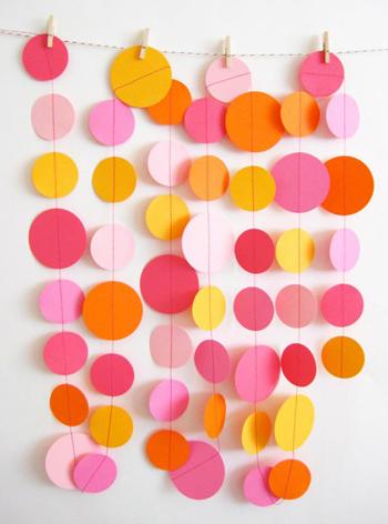Circle Garlands 8 Fabulous DIY Party Decoration Ideas
