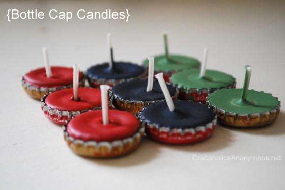 Bottle Cap Candles