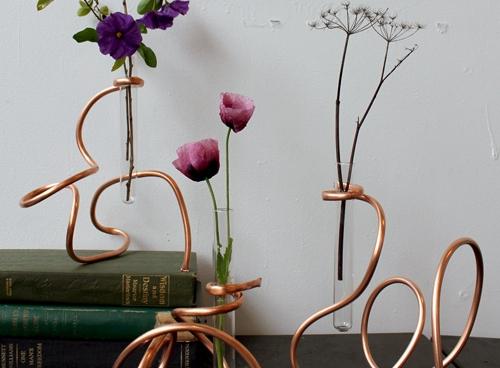 Copper Coil Vase