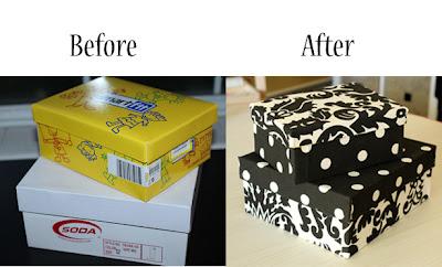 Repurpose Shoe Boxes