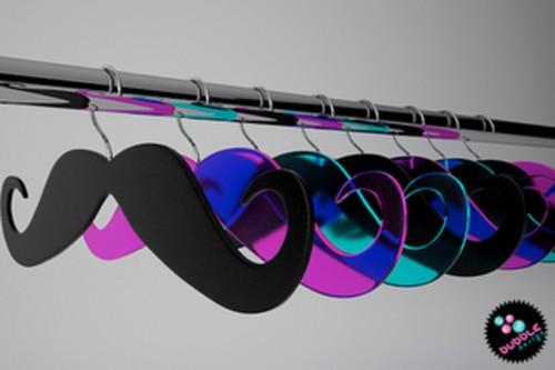 Mustache Closet Hangers