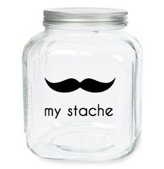 Mustache Storage Jar