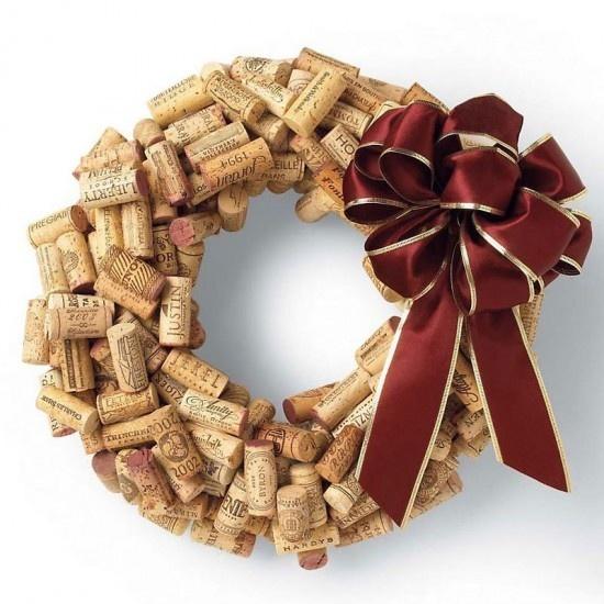 Turn Wine Corks into a Wreath