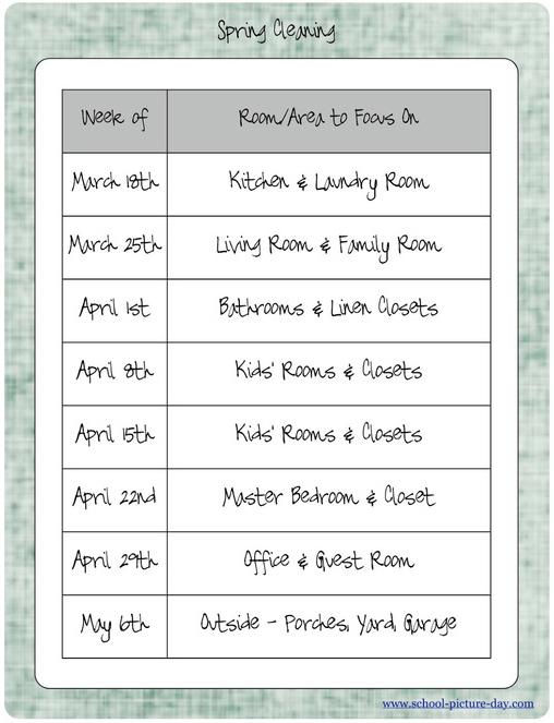 Make a Schedule or Checklist