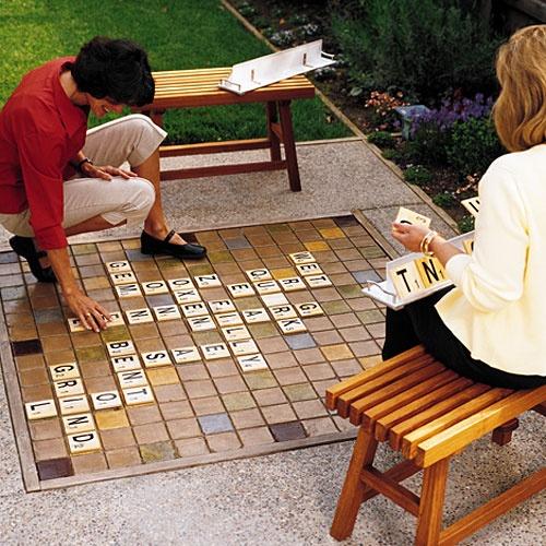 Outdoor Tile Scrabble Board