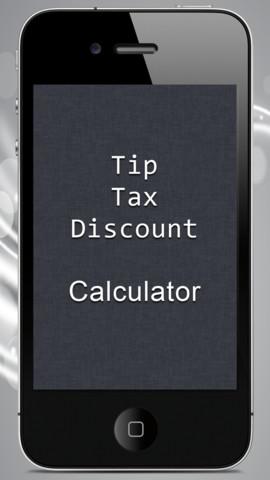 Tip Tax Discount Calculator