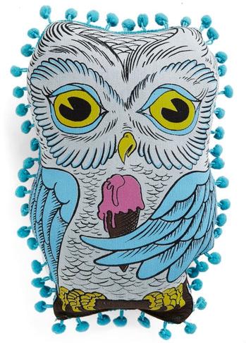 Hoot Wants Ice Cream Owl Pillow