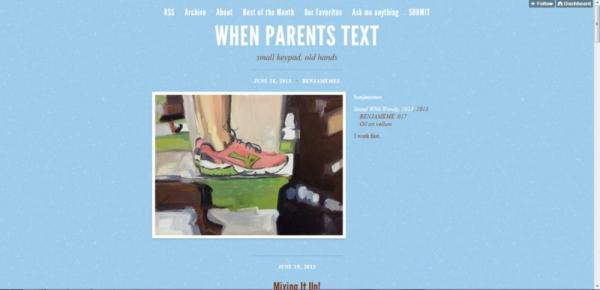 When Parents Text