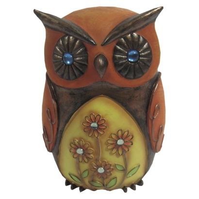 Jeweled Garden Statuary Owl