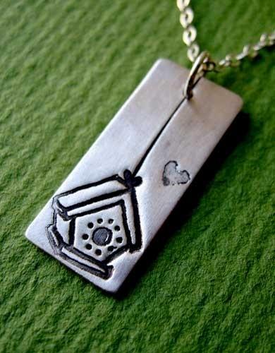 Susie Ghahremani Silver Birdhouse Necklace