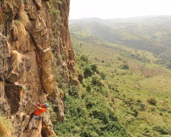 Ropeless Cliff Climbing in Ethiopia