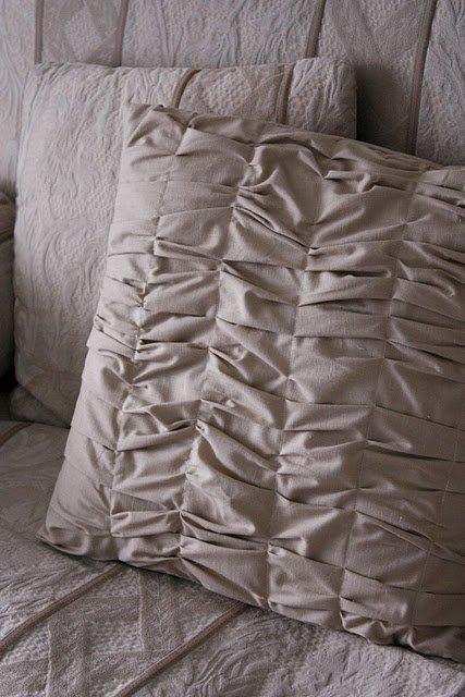 Gathered Throw Pillow
