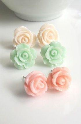 Multi-Colored Pastel Earrings