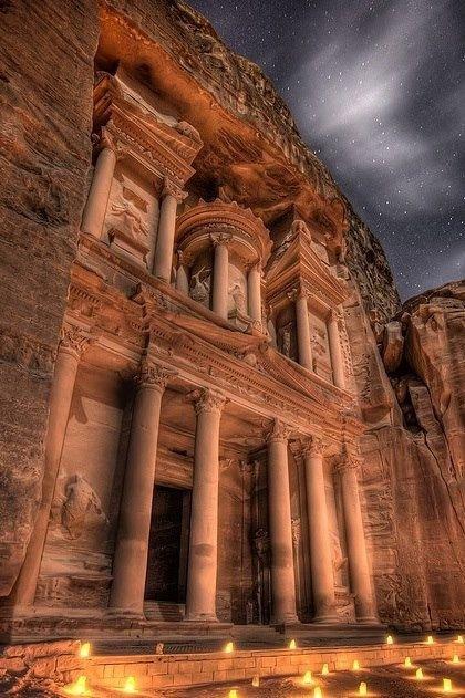 landmark,night,ancient history,temple,ruins,