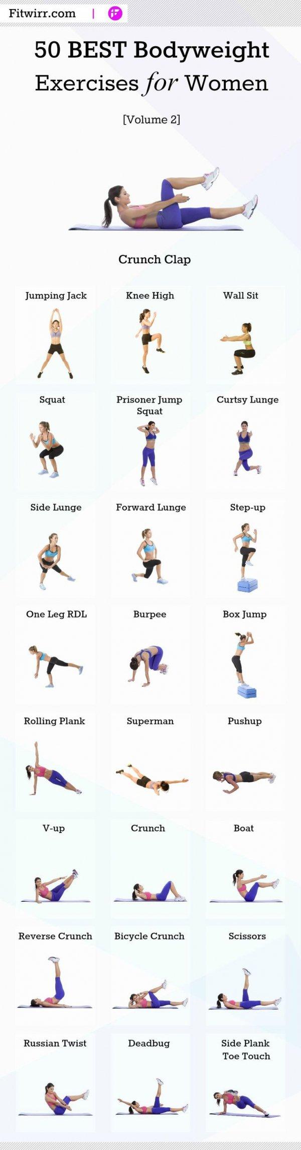 50 Best Bodyweight Exercises for Women, Volume 2