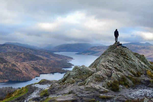 highland, loch, sky, fell, mountain,