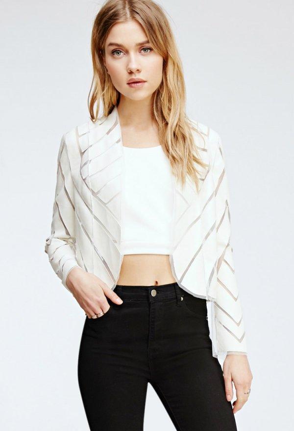 Faux Leather Cutout Jacket