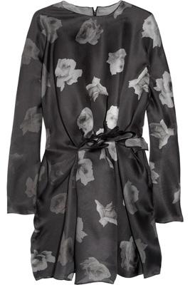 Lanvin Printed Silk-Gazar Dress