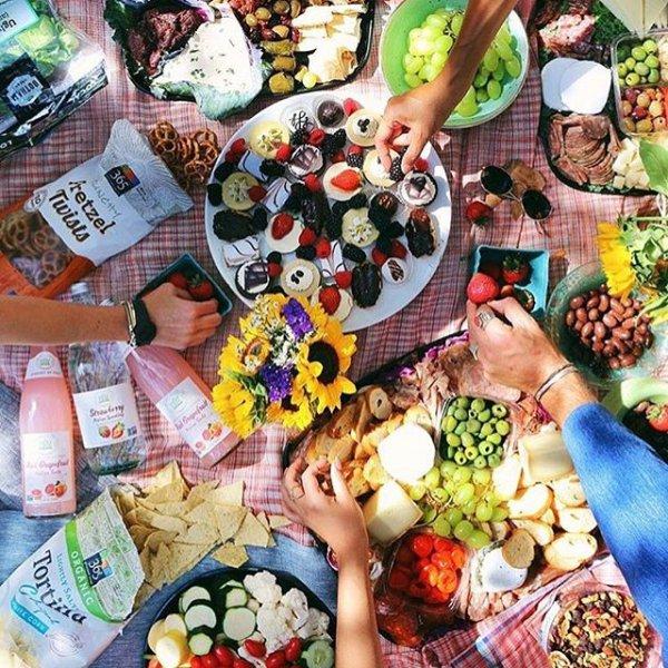 public space, food, art, market, picnic,