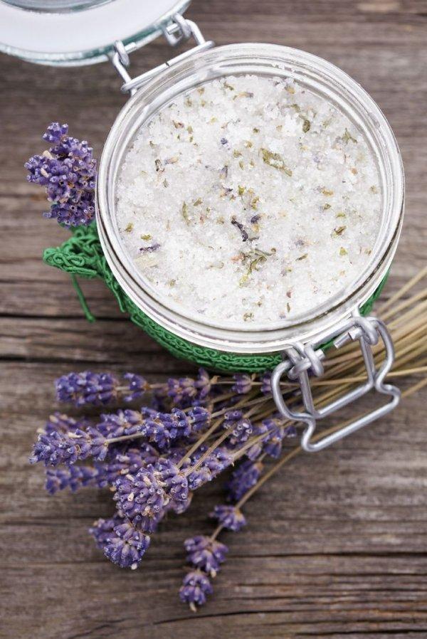 DIY Lavender & Coconut Body Scrub