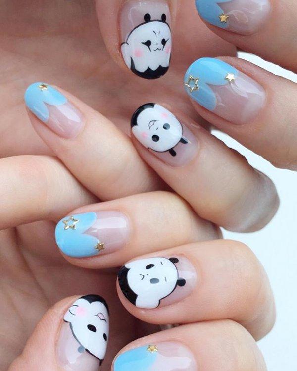 nail, sculpture, manicure, cosmetics, moustache,