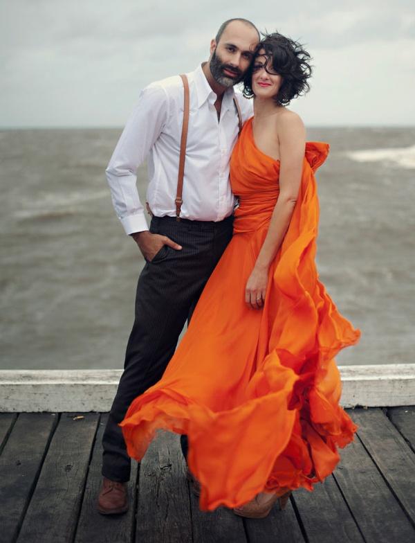clothing, orange, model, fashion, formal wear,