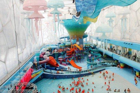 Watercube Waterpark in Beijing, China