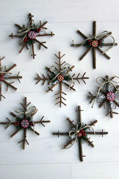 twig, cross, christmas decoration, flower,