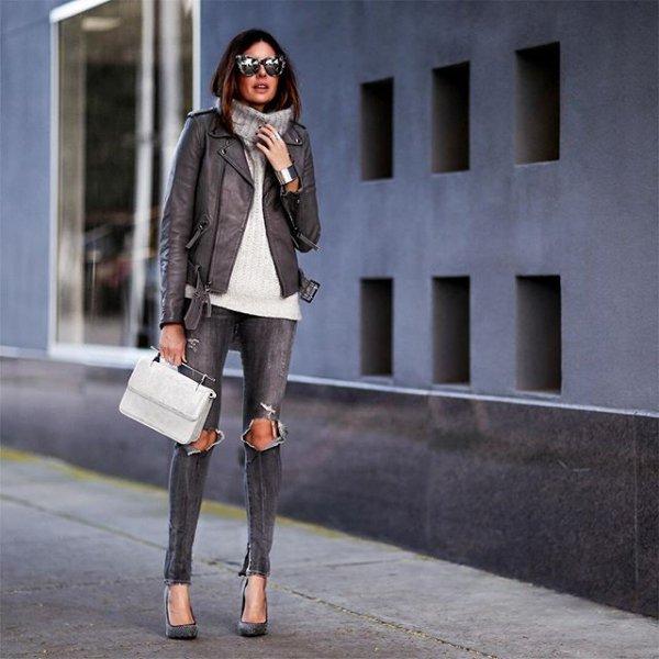 clothing, black, footwear, leather, winter,