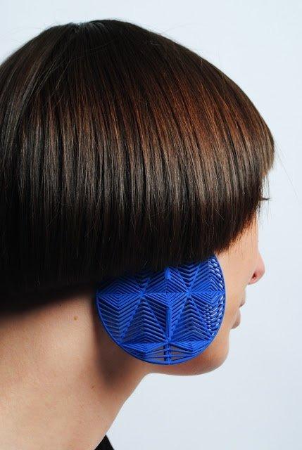 3D Printed Earrings by Theresa Burger