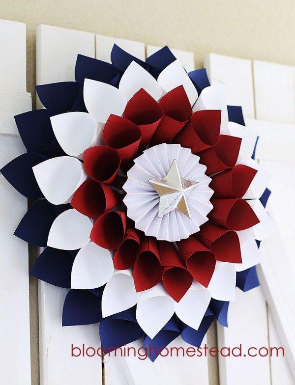 Patriotic Paper Wreath