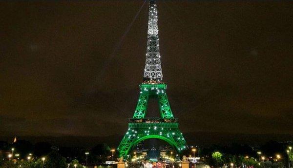 Landmark, Tower, Metropolitan area, Green, Night,