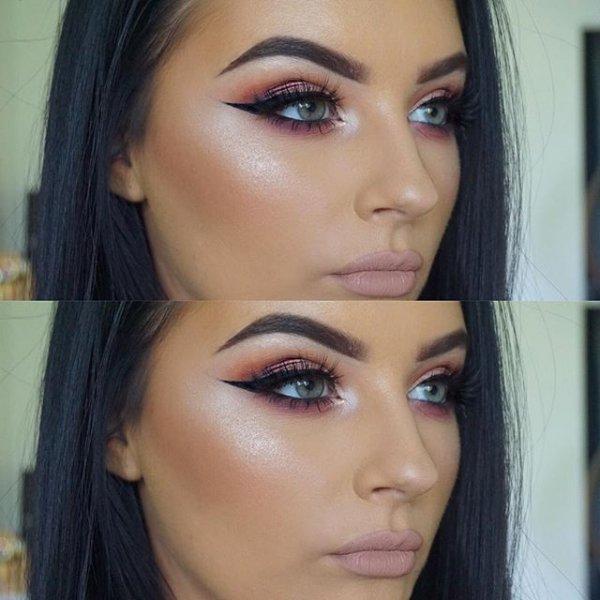 eyebrow, color, pink, purple, eyelash,