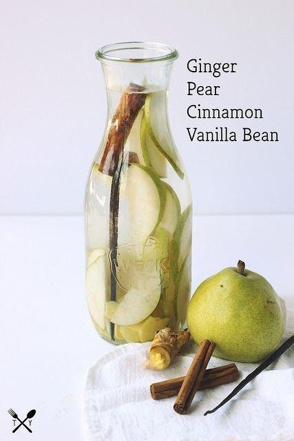 Ginger Pear Cinnamon Vanilla Bean Infused Water