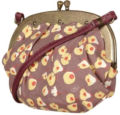 Pink Floating Meadow Print Cross Body Bag