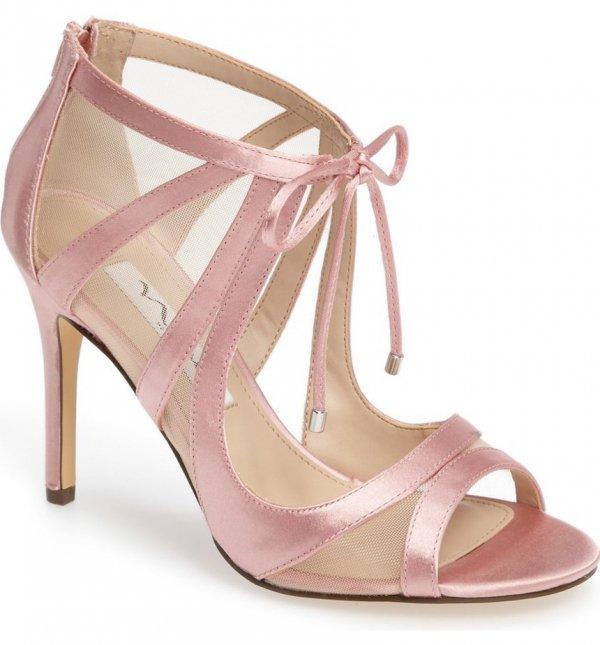 footwear, pink, high heeled footwear, leg, leather,