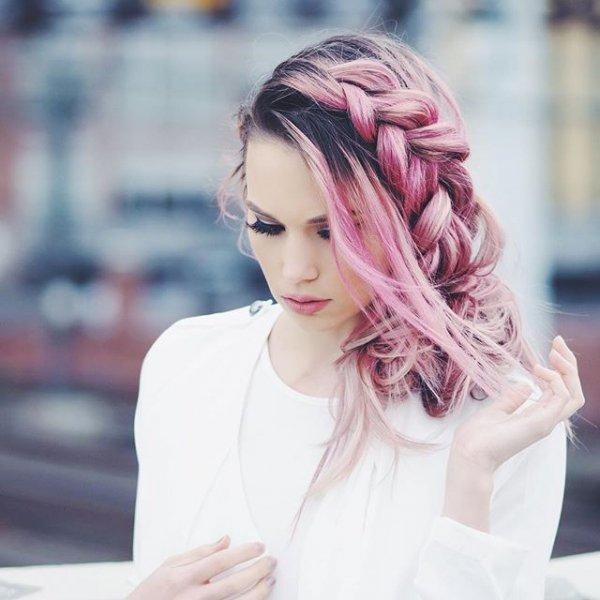clothing, hair, hairstyle, pink, long hair,