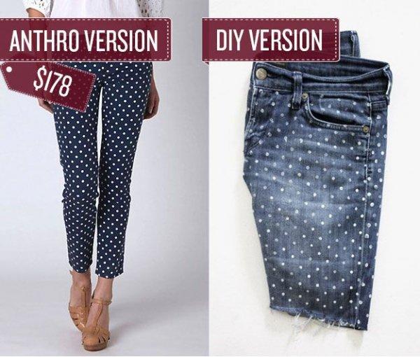 Polka-Dot Jeans