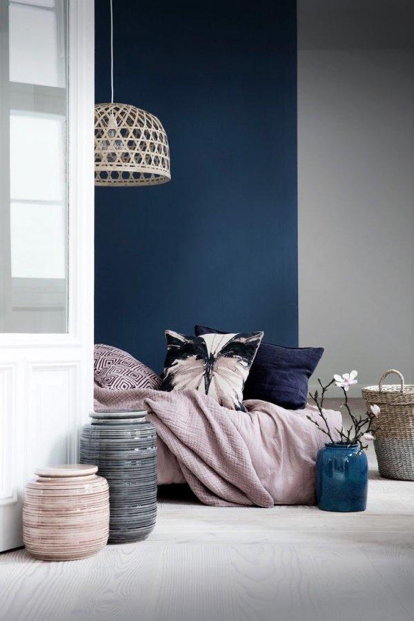 color, white, blue, room, furniture,